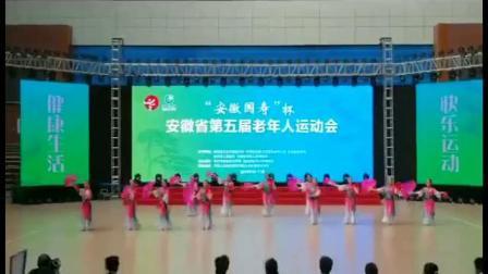 安徽省第五届老年运动会   六安代表队 规定套路《七套秧歌》  主办城市池洲