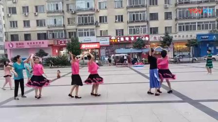 哈尔滨市金色阳光广场舞配乐视频《陪你一起看草原》团队表演  录制-朱志忠