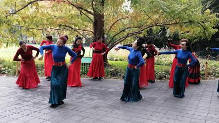 北京紫竹院魅力朵朵舞蹈队广场舞《草原恋》,歌曲悠扬、舞步轻盈、动作整齐。