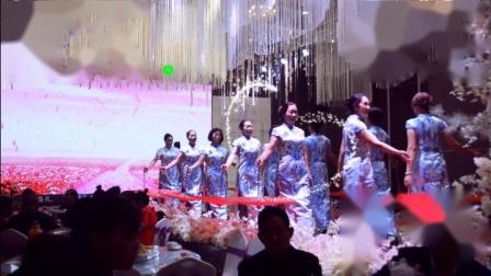 获嘉县广场舞协会艺术团旗袍伞T台秀《欢聚一堂》