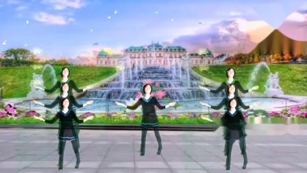 拾兰感恩广场舞(一起见证传扬神的爱)编舞 凤梅 晓茹演示 谭拾兰