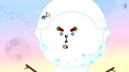 开心超人:超人们用雪球扔宅博士,结果宅博士被雪球淹没了!宅博士教超人们堆雪人,结果开心超人都已经堆好了!
