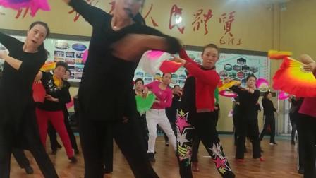 阳泉老体协第八套健身秧歌培训何老师口令教学燕飞舞制作