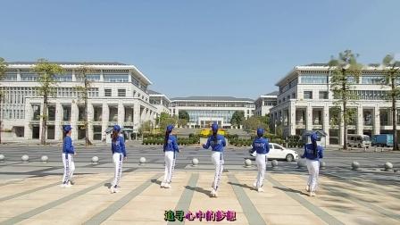 广州飘雪广场舞《为了梦想闯一闯》原创大众健身舞附教学
