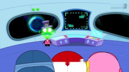 开心超人:大小怪到了水水星,结果司令又让他们去火火星!灯泡老板让超人们欣赏火火星,结果开心超人看到了大小怪!