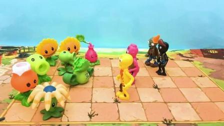 植物大战僵尸游戏 窝瓜菜问阿开木木成功守卫家园对战僵尸群 标清游戏