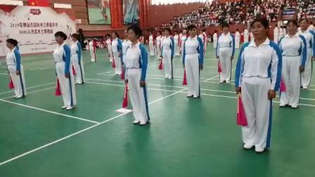 豹子岭木兰拳协会健身队参加佛山木兰拳比赛