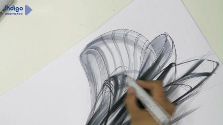 意翔工业设计手绘——张雨时老师形体设计表达