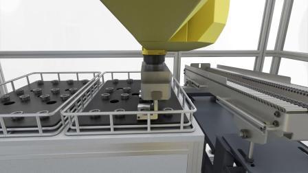 倒立式双主轴车床VL 1 TWIN 配备自动上下料机器人