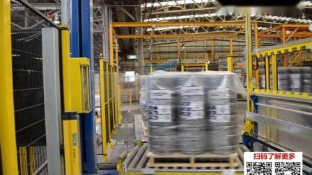 工业4.0自动化包装 全自动栈板裹膜机FA640 自动上膜+切膜+上盖膜