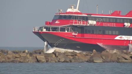 会飞的船-澳门赌场开往香港的高速飞翼船