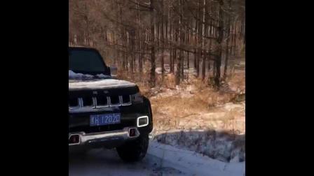 雪地里撒个野