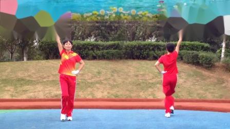 襄阳广场舞健身操第八套第2节《草原归来难放下》竹子演示