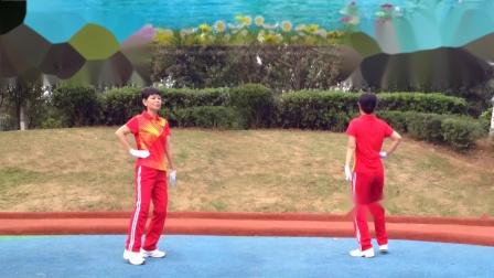 襄阳广场舞健身操第八套第7节《姑娘跟我走》竹子演示