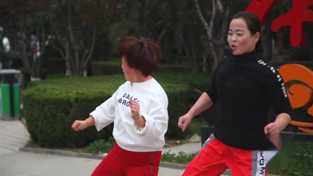 最近流行鬼步舞《祖国山河美》,大姐的表演真喜感,美醉了!