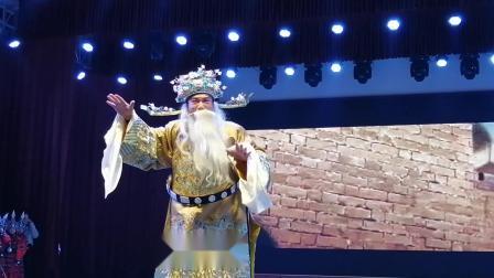 永康市龙川学校婺剧艺术节,吕永固校长演唱婺剧《徐策跑城》。