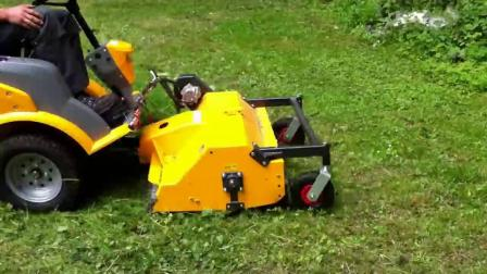 Stiga Titan全液压乘坐式割草机,甩刀割草机效果