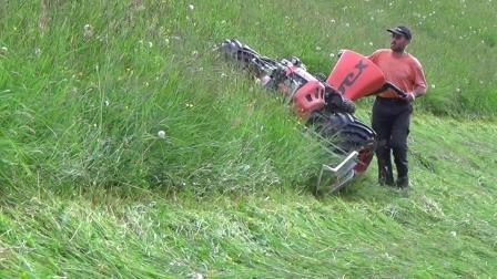 国外全液压斜坡割草机工作视频