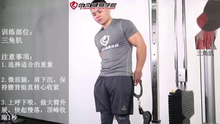 胸肌训练动作-5-2龙门架单臂侧平举-动岚学院