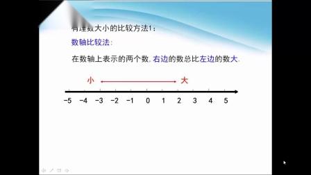 七年级上数学有理数大小比较-
