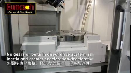 台湾新卫HSM-5XC五轴加工中心镶入式工作台可铣可车