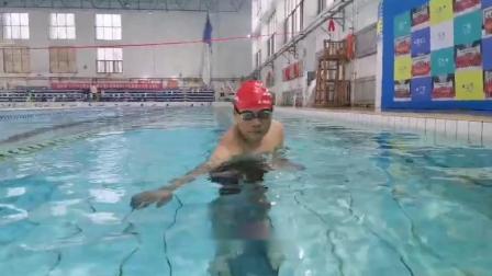 自由泳的宽轨入水