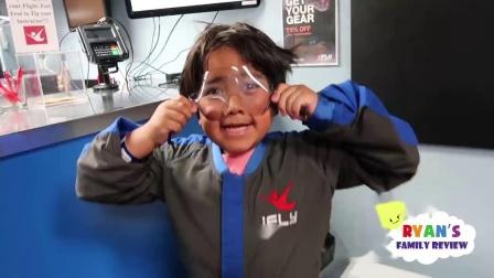 首次与进行室内跳伞超级家庭娱乐活动