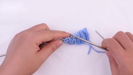 里侧的双罗纹编织的收针法