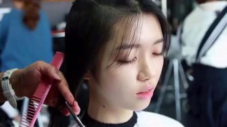 韩国美女剪短发_标清