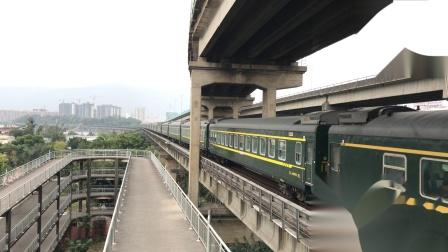 (广茂线火车视频)DF4B 2249牵引K587通过西江大桥(深圳西-成都)