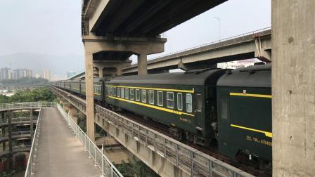 (广茂线火车视频)DF11 0017牵引K837通过西江大桥(深圳西-重庆西)
