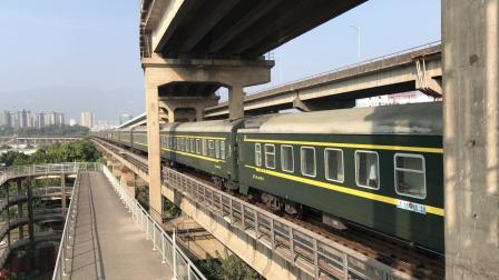 (广茂线火车视频)DF4B 2602牵引K841通过西江大桥(广州-贵阳)