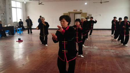 祝桥太极缘联谊会天飞培训班汇报演出楊式太极拳三十七式。