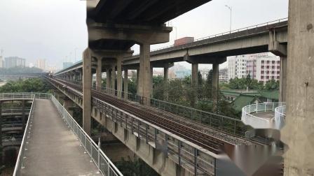 (广茂线火车视频)DF4B 9086牵引41187次通过西江大桥