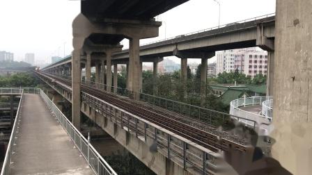 (广茂线火车视频)DF4B 7033牵引41189次通过西江大桥