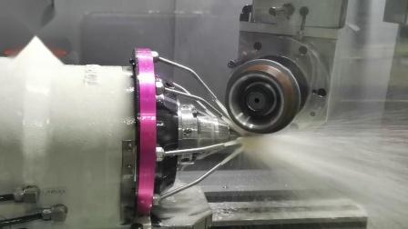 千岛机械 QD580五轴数控工具磨床生产∮8R1圆鼻刀操作视频