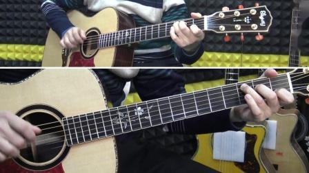 自学吉他指弹《桥边姑娘》深蓝雨吉他弹唱讲解教学