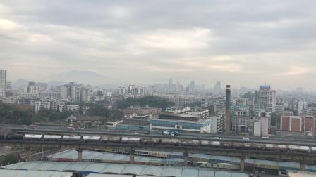 (广茂线火车视频)DF4A 0735牵引41183次通过肇庆西江大桥