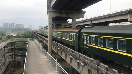 (广茂线火车视频)DF4B 2234牵引K365通过西江大桥(广州-罗平)