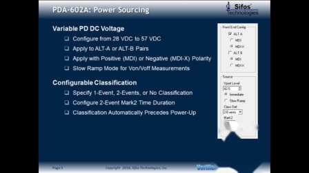 Sifos PDA602A Overview