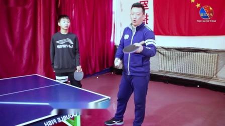 【吴金迪乒乓球教学】第9集:直板反手拉下旋球