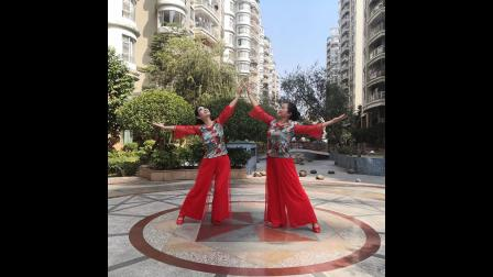 绿叶子广场舞《桥边姑娘》双人舞 编舞:君君