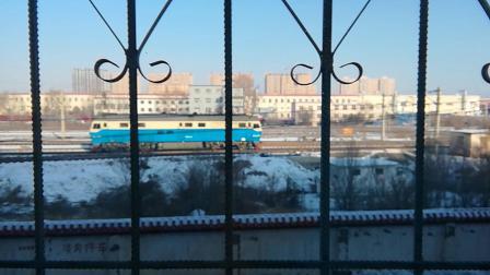 东风4DH乌克兰单机前往集宁机务段南场