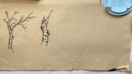 山水画,12种树的画法和皴法