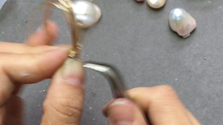 【回眸工坊巴洛克珍珠绕线课程】3-巴洛克珍珠概念戒指