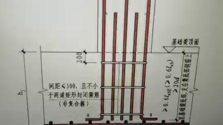 赵志刚老师讲柱插筋在基础中的锚固