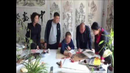 山东省美协会员宋焘做客孟真山水画工作室创作-中国画都网