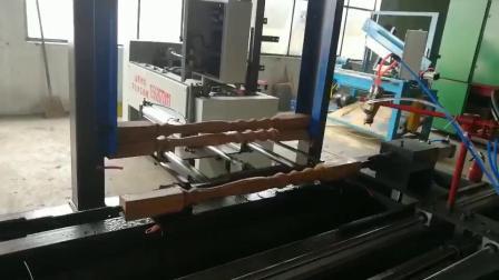 楼梯立柱喷漆机喷漆操作视频