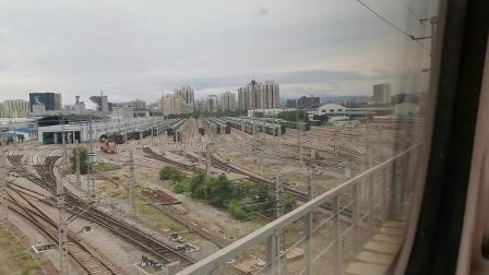 20191004 140826 G87次列车出北京西站(续)遇G502次列车