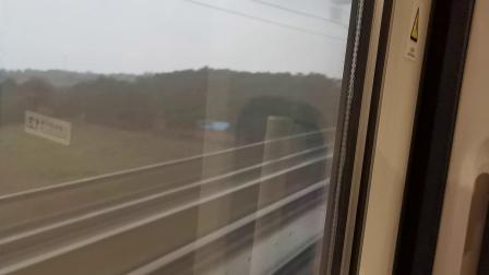 20191004 173737 G87次列车运行于郑西(徐兰)高铁灵宝西站至华山北站区间